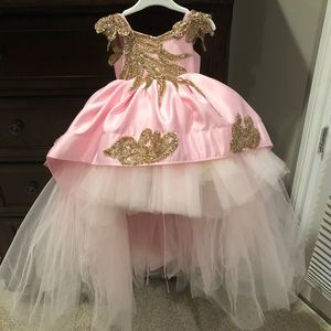 Other - BABY OR TODDLER CUSTOM PINK GOWN DRESS